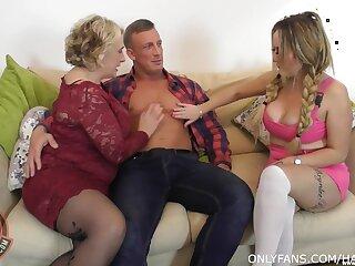 BBW wife invited over Camila Creampie for a FFM threesome sex