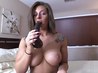 Amateur Big Tit Milf Clover Sucks Wanting Squirting BBC Dildo