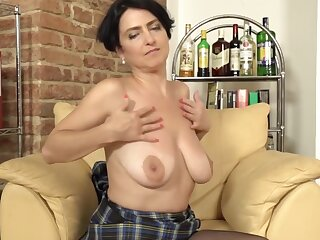 Mature low-spirited mammy with super hot body with an increment of wet pussy