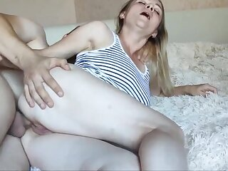 Wed is Cheating on Her Cut corners and Fucks with Lover! Blowjob and Anal Carnal knowledge