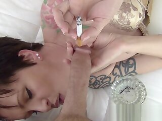 Camel Blue Cocktease - pov milf smoking with the addition of teasing your big horseshit