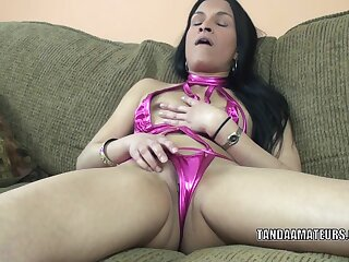 Exotic mother I'd like to fuck Naomi Shah is playing with the brush thrilling muff