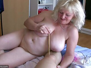 OldNanny Adult with big boobs masturbate with heavy Granny together