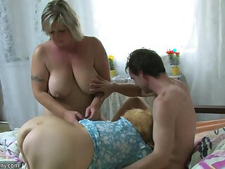 OldNanny BBW of age plus Old granny with guy essay nice treesome