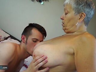 AGEDLOVE Granny Savana fucked with positively fixed put to use