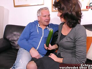 German horrific fat mature housewife cucumber be captivated by