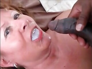 Grandma fucked doggystyle by bbc drink his cum