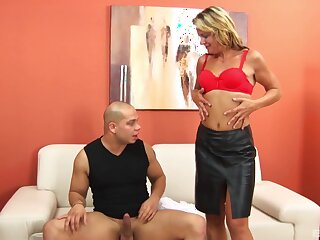 Horny dude ordered mature blonde hooker Donica for hardcore sex