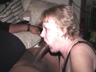 Hungry grandma sucking bbc make both ends meet cum in mouth