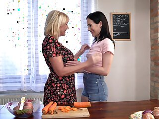 Lesbian sex several the bed between dear Nikki Fox increased by Milf Amy