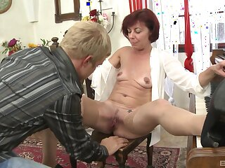 Younger guy got a chance to bang his redhead instructor Diane