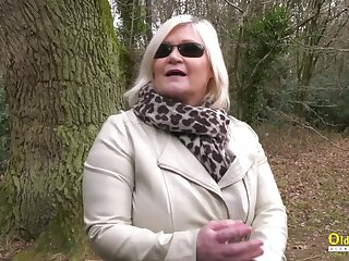 Busty british grown-up lady enjoying say no to blonde tribade friend masturbation