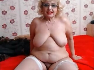 Hairy hot big granny akin everything on cam