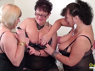 A handful of white hot lesbians playing with sexual intercourse toys increased by with ever other