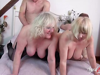 Yoke mature ladies got involve in real hardcore group sex