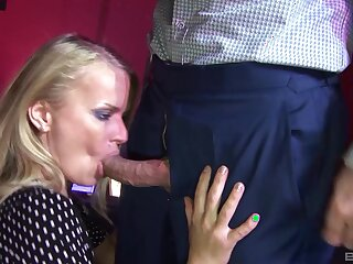 Clothed sex and blowjob from full-grown kirmess pornstar Dora Venter