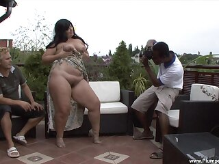 Chunky mature Carmen Carlos fucked by a massive black cock in outdoors