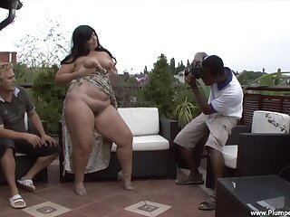 Obese mature Carmen Carlos sucks a bigl frowning dick and gets fucked