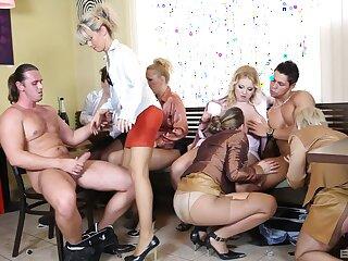 Partake of glamour pornstars suck three dick and involving tortuosities riding well-found