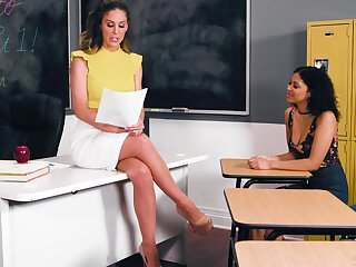 Teacher has bull dyke sex with her student - Cherie Deville & Jeni Angel