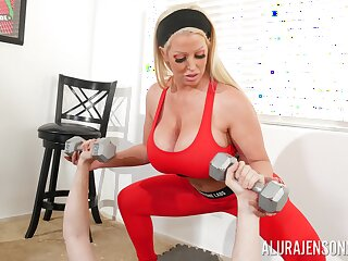 Well-known performance juggs Alura Jenson gives a titjob plus gets fucked