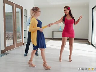Busty salesgirl Bridgette B kicked out his GF to intrigue b passion with him