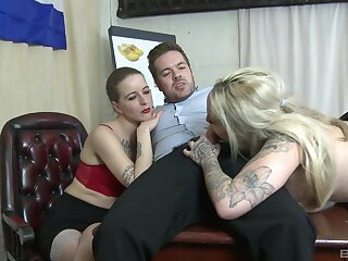 Mommy join foetus for a hot hardcore threesome