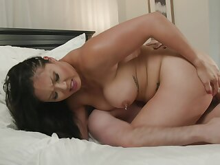 Busty Asian mom kingdom sod off step son's cock into say no to cunt