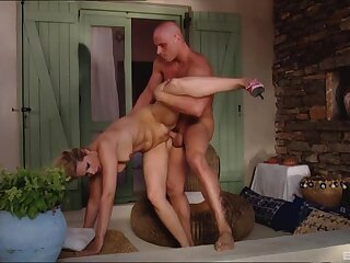 Milf with saggy confidential fucked merciless and jizzed on prospect