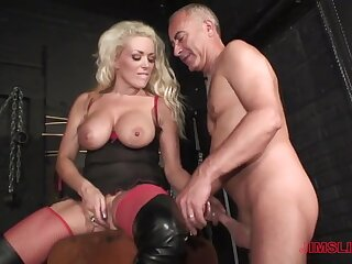 Blonde milf loves the patriarch man's dick in her ass