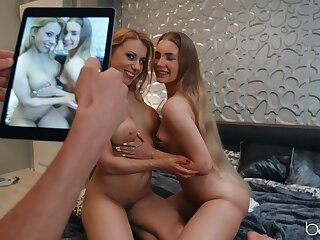 Lucky lad albeit access to chum around with annoy tasty pussies of Nikki Thorne and Mary Rock