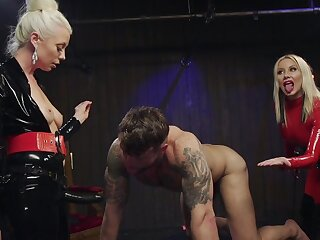 Dirty female possession on man's ass hole by way of guestimated XXX BDSM