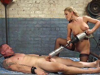 Cherie DeVille straps a dildo gag on him and uses his face to put someone down