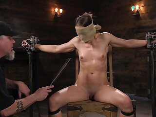 Submissive babe leaves her master to birch and clamp her merciless