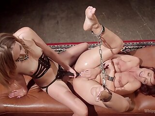 Dirty  BDSM pussy action for two mettlesome lesbians
