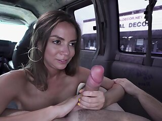 Picked up doll with big tits, nasty cam sex on the back seat