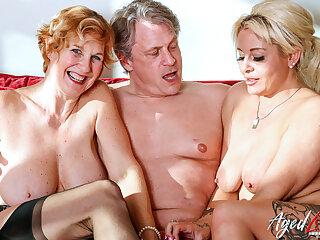 AgedLovE Two Mart Ladies Hard Threesome Sex