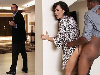 Spouse returned presently housewife rails BIG BLACK COCK