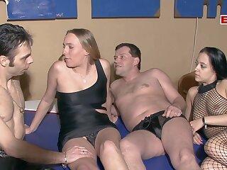 German amateur Swinger couple try Sex Party NO CONDOM